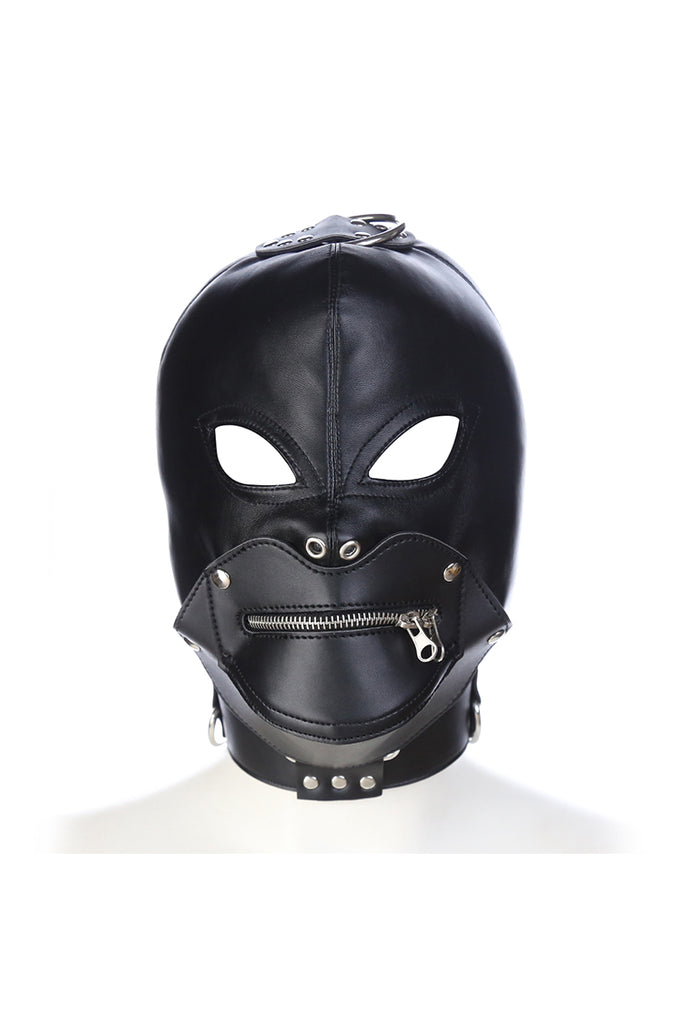 Open Eyes Hood with Zipper Mouth
