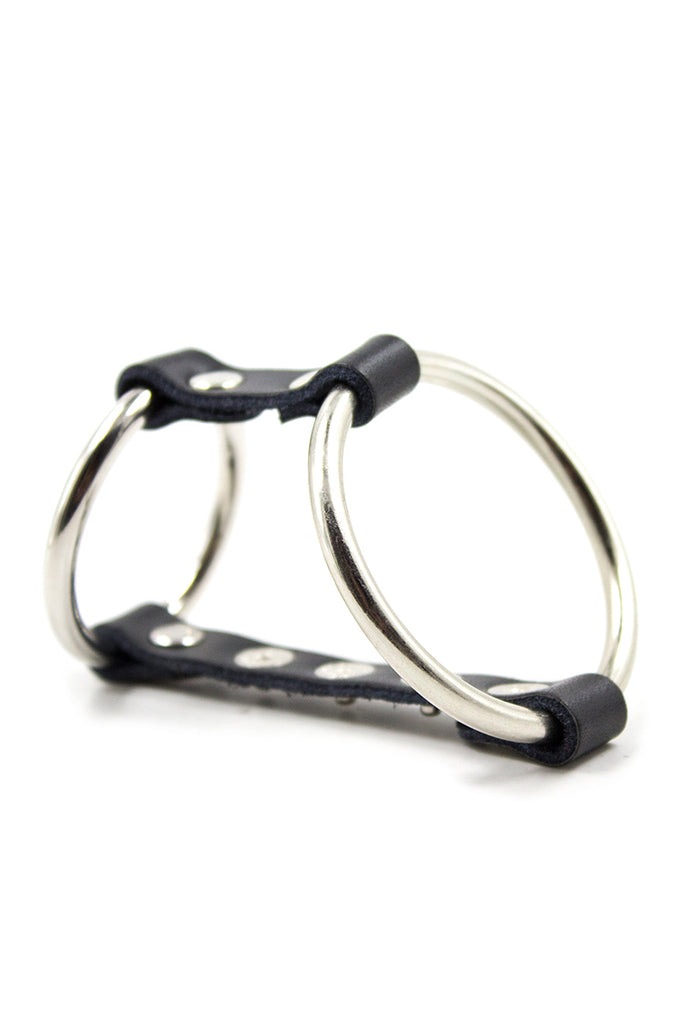 2-in-1 Stainless Metal Cock Rings