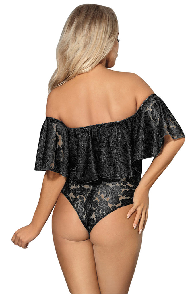 Off-shoulder Lace Bodysuit Lingerie