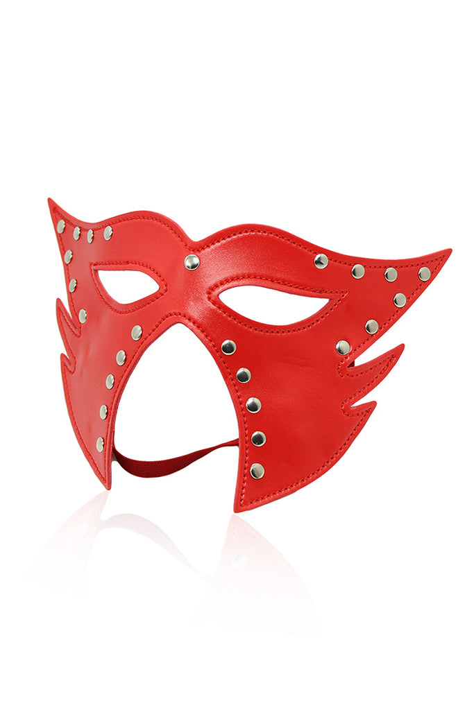 Leather Studded Prince Mask for SM Role play