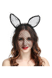 Pindot Veil Bunnygirl Roleplay Costume Ear and Hair Hoop accessories