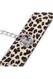 Leopard Printed Collar with Wrist and Ankle Cuffs