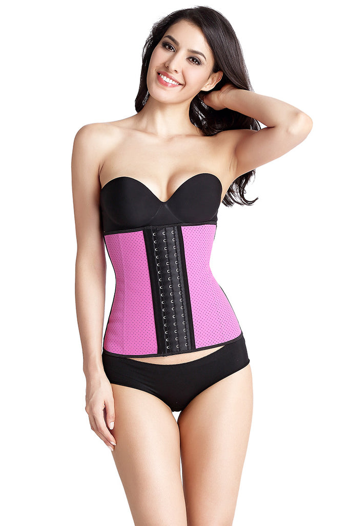 Waist Trainer with Latex Hook Closures 9 Steel Boned