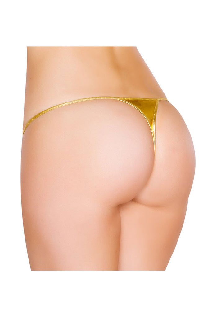 Faux Leather Shining G-String Sexy panties