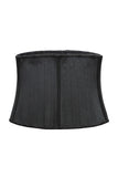 Waist Cinching Bustier 25 Steel Boned - Black Nude