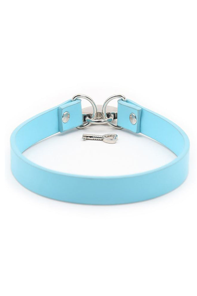 Heart Shape Lock Leather Collar