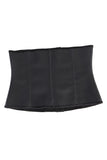 Waist Trainer with Latex Hook Closures 9 Steel Boned - Black Nude
