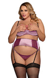 Sexy Quarter Cup Bra and Garter Belt Set