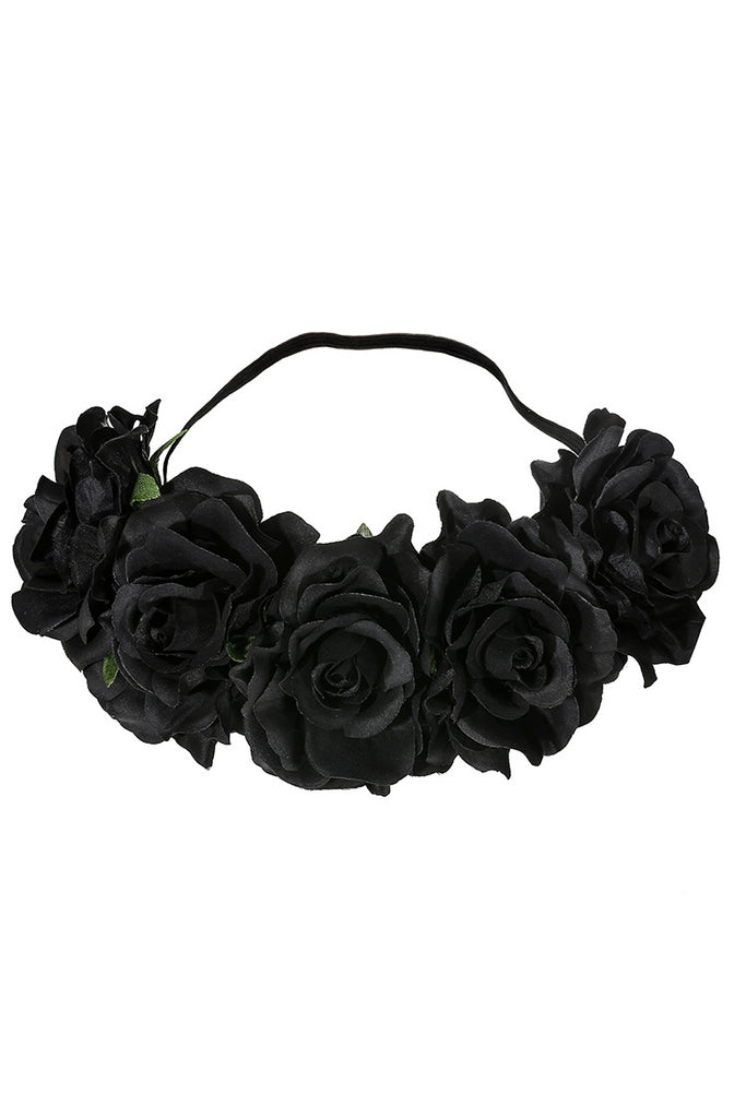 Fabric Rose Flower Crown Ideal Lingerie Accessory