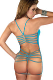See Through Backless Mini Dress and G-String Set
