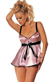 Underwired Cups Adjustable Straps Babydoll Set