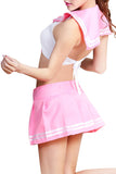 Schoolgirl Sleeveless Top and Mini Skirt Roleplay Costume Set