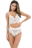 See Through Hollow Women Underwear Sexy Girl Bra Set Lace Patchwork