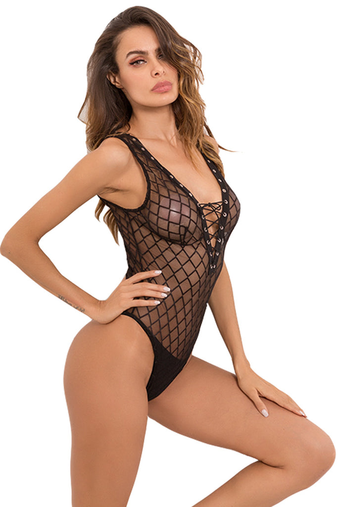 Laced Up Sexy Bodysuit