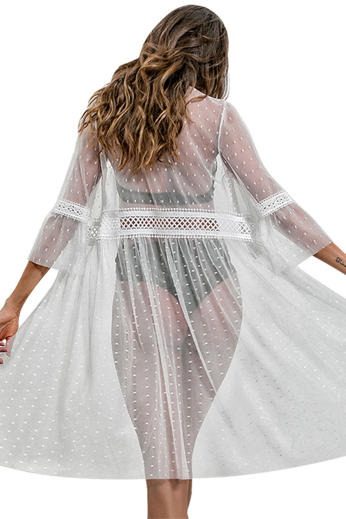 Women's Beach Wear Cover up Lace Floral Long Maxi Dress