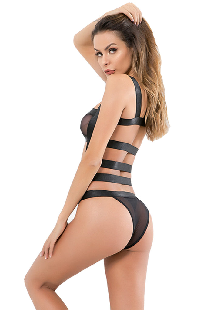 Sexy lace Bandage Strappy Bodysuit Erotic Lingerie