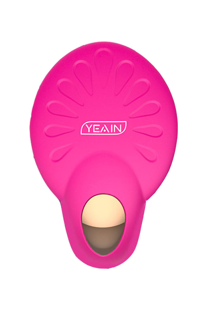 YEAIN Heating Wireless Remote Silicone Strap-On Vibrator 4.3 Inch
