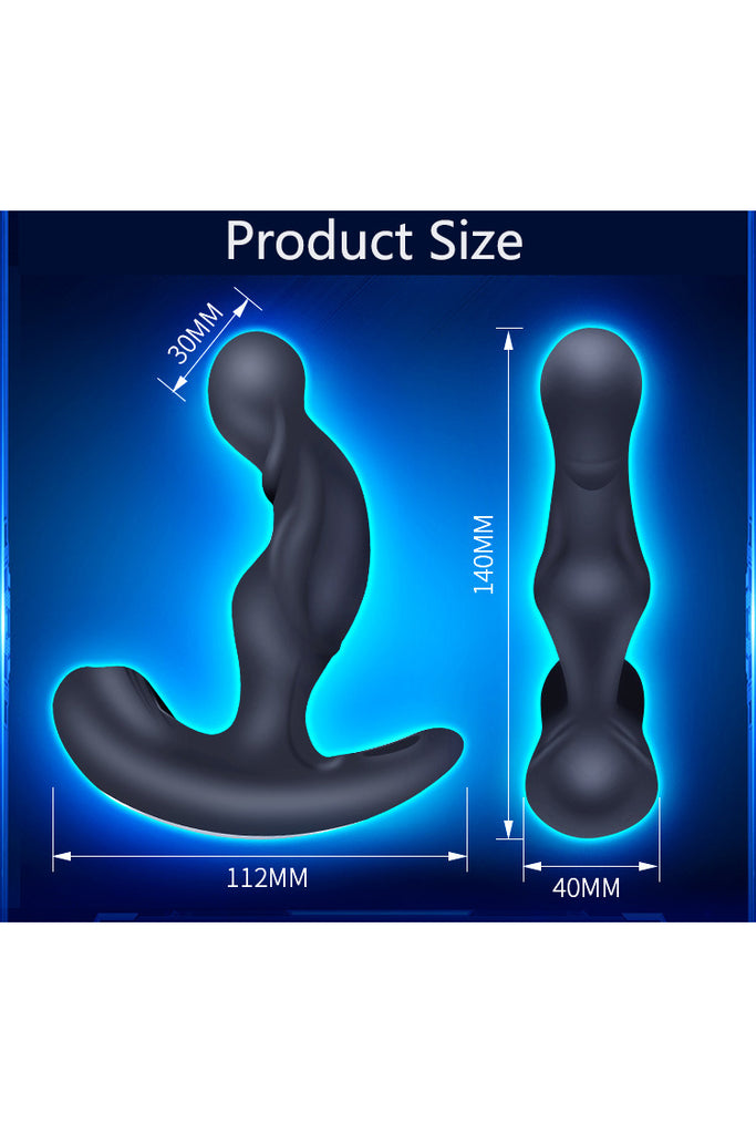 Wireless Remote Control 360 ° rotating Vibrating Male Prostate Massage Anal Plug Butt Plug Adult Sex Toys For Men Women SM Anal