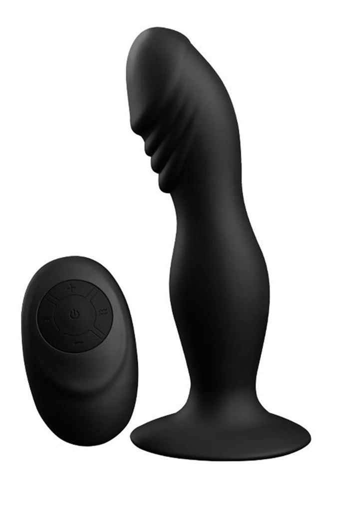 SHAKE BOUNCER - REMOTE CONTROL - BLACK Butt Plug Anal Plugs Unisex Adult Toys for Men & Women Anal Trainer For SM Couples