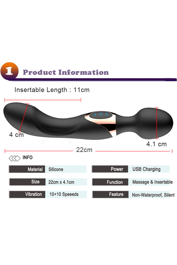 10 Speeds Powerful Big Vibrators for Women Magic Wand Body Massager Sex Toy For Woman Clitoris Stimulate Female Sex Products