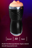 Male Masturbator Dual Hole Deep Throat Realistic Oral vagina Sex Toy for Man