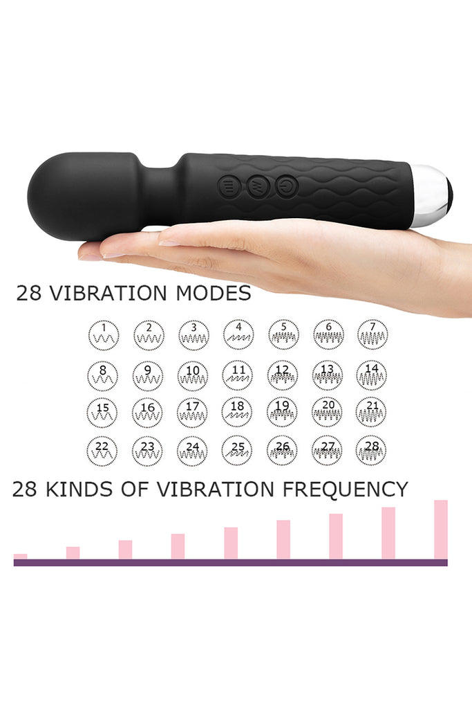 Personal Magic Wand Massager with 28 Powerful Frequency Handheld Wand Massager AV Vibrator Adult Toy for Couples Wand Vibrator