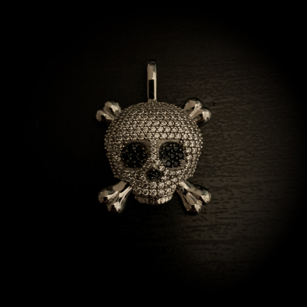 Drop #6: Iced Skull (.925 Sterling Silver)