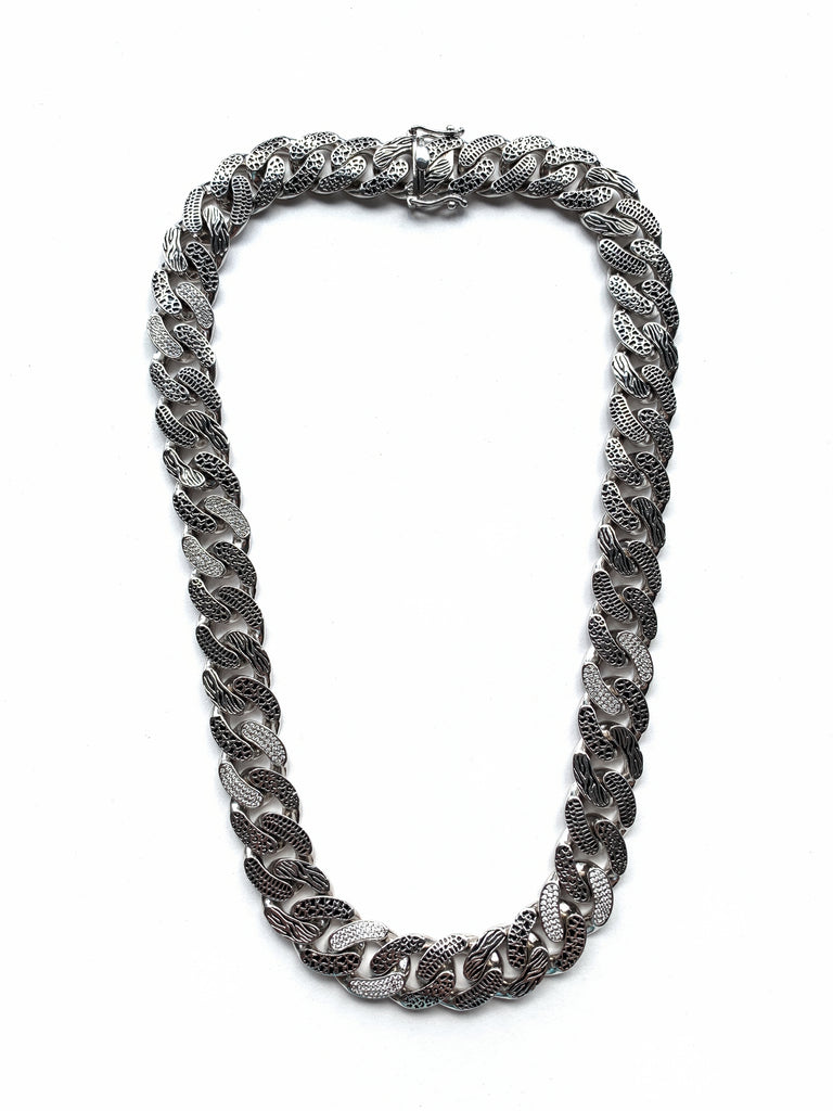 Animal Style Cuban Chain (.925 Sterling Silver)