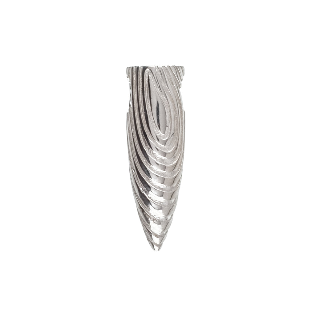 Textured Bullet Pendant (.925 Sterling Silver)
