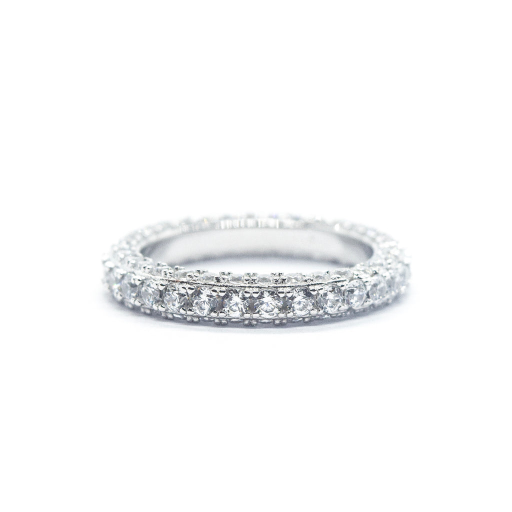 360 Eternity Ring (.925 Sterling Silver)