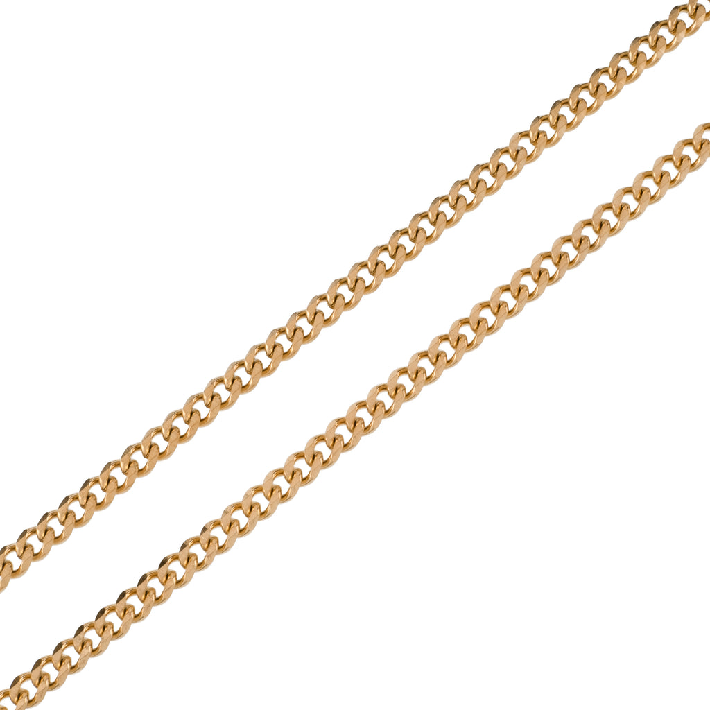 6mm Cuban Chain (18K Yellow Gold/Stainless Steel)