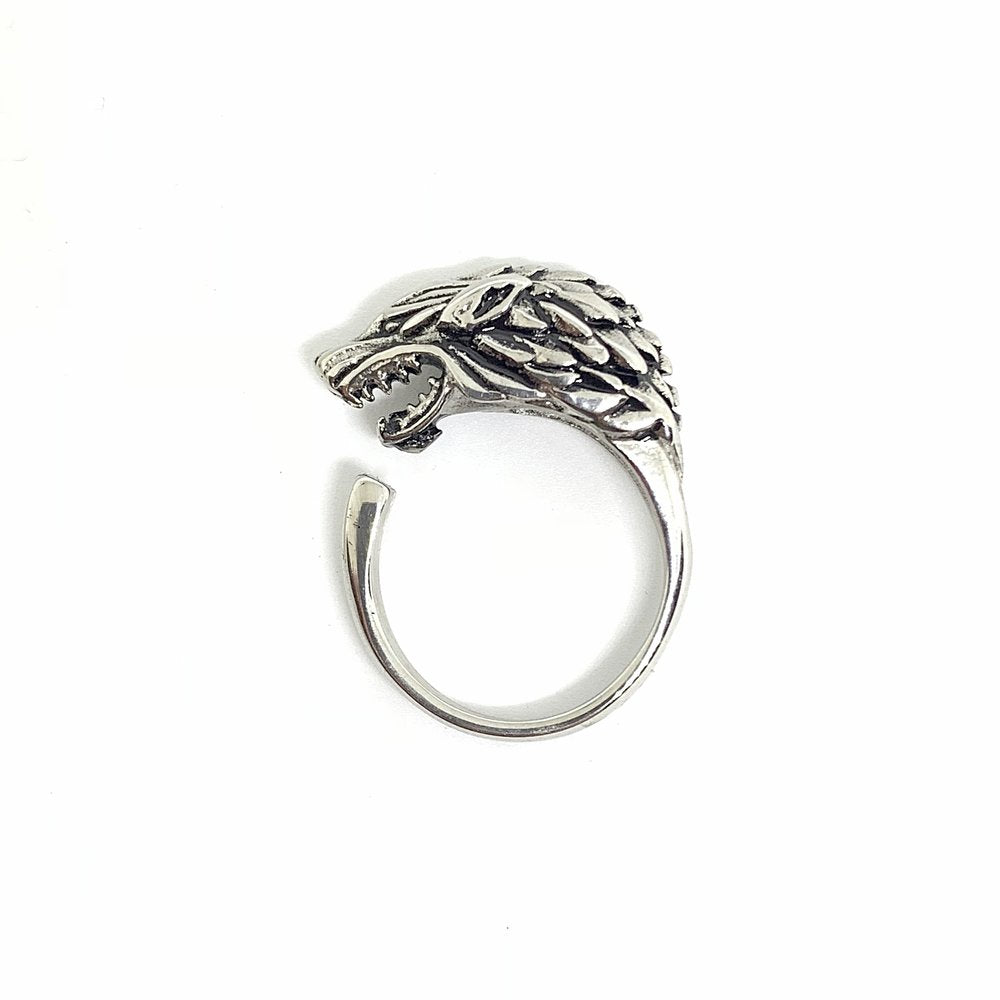 Wolf Ring (Stainless Steel) - Kuyashii Jewelry