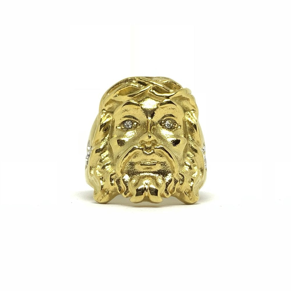 Jesus Piece Ring (18k Gold/Stainless Steel) - Kuyashii Jewelry