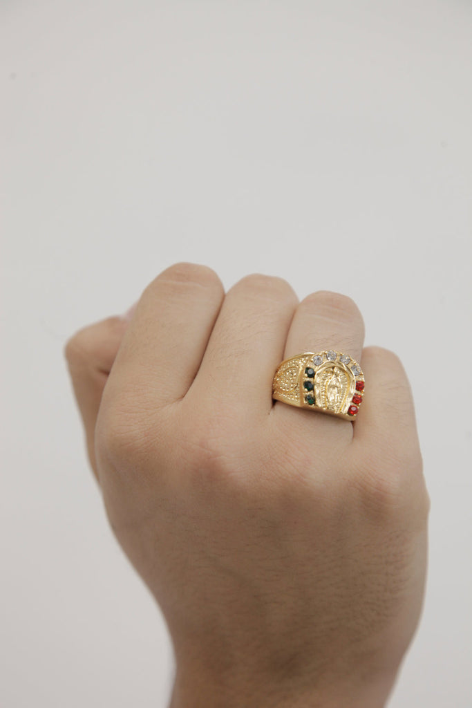 Guadalupe Ring (18k Gold/ Stainless Steel) - Kuyashii Jewelry