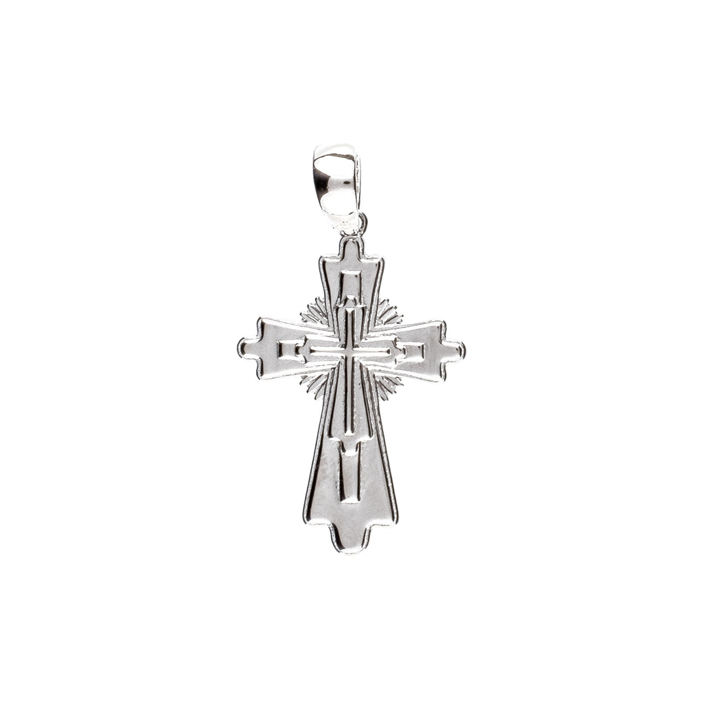 Layered Cross Pendant (.925 Sterling Silver)