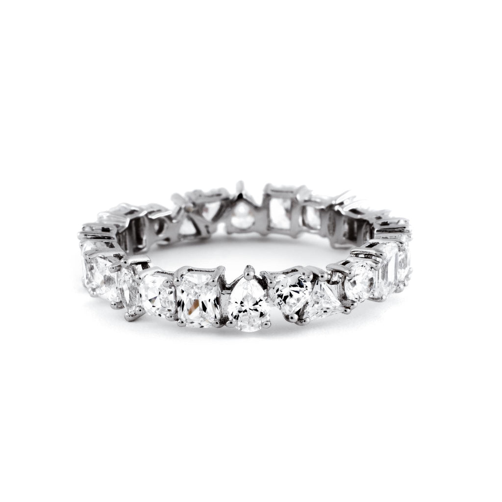 11-Cut Micro Eternity Ring (.925 Sterling Silver)