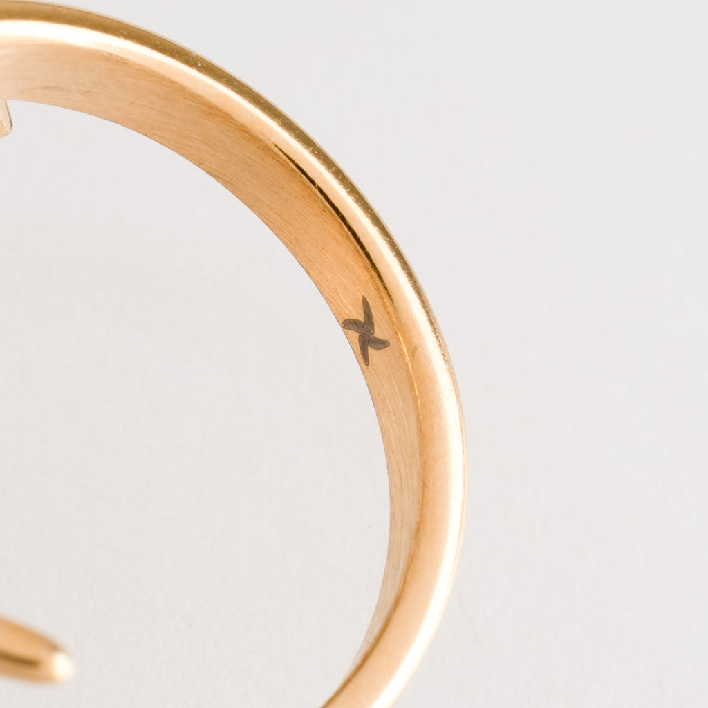 Lightning Bolt Ring (18K Yellow Gold/Stainless Steel)