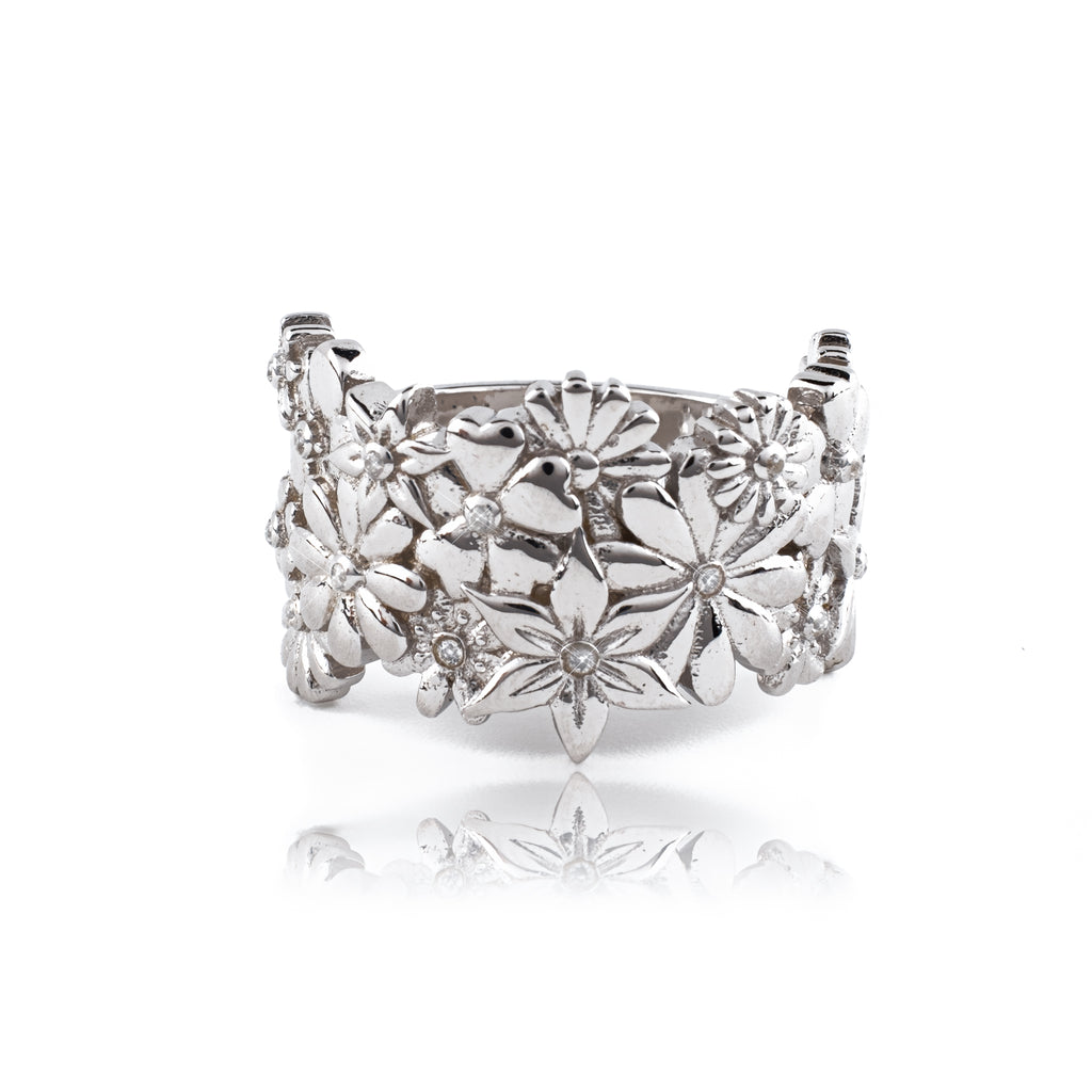 Flower Power Ring (.925 Sterling Silver)