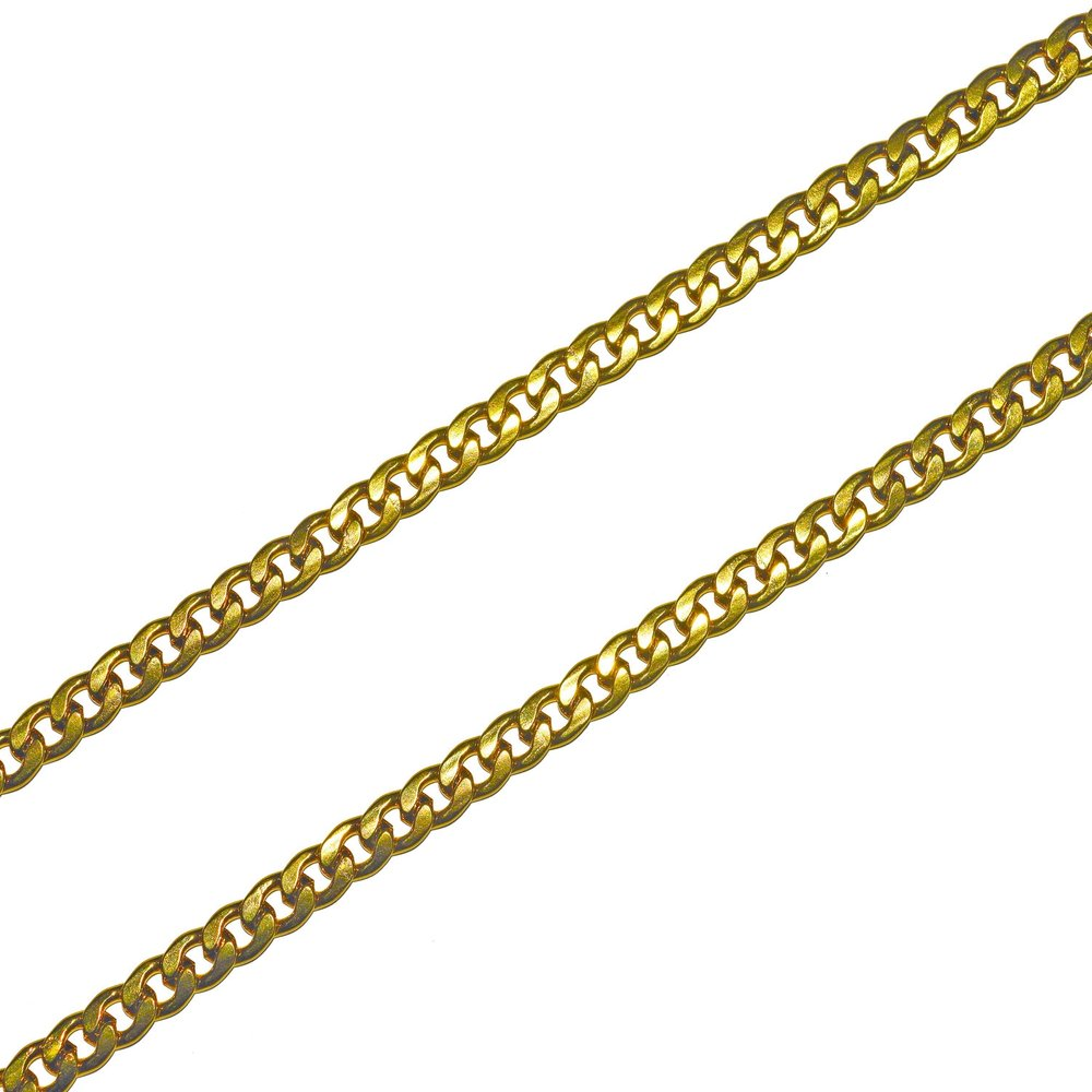 6mm Cuban Chain (18k Gold/Stainless Steel) - Kuyashii Jewelry