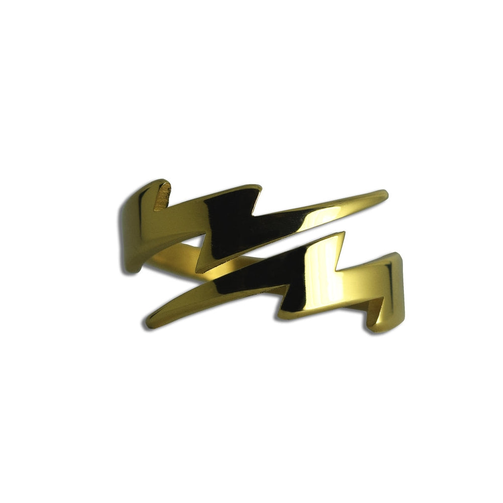 Lightning Bolt Ring (18k Gold/Stainless Steel) - Kuyashii Jewelry