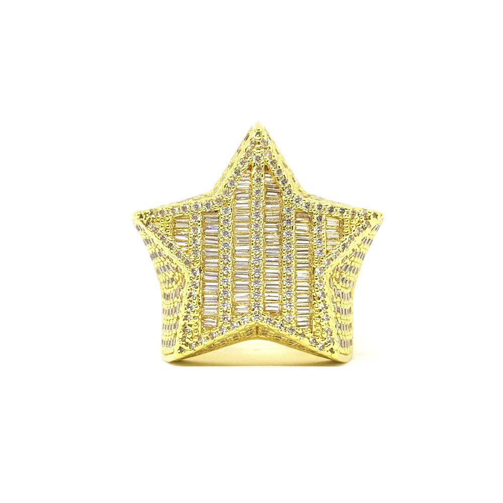 Baguette Star Ring (14k Gold) - Kuyashii Jewelry