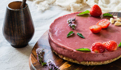 Gluten Free Desserts - Raw Vegan Strawberry Cheezecake