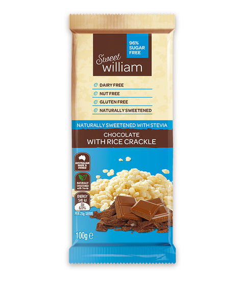 Sweet William Chocolate with Rice Crackle - 100g