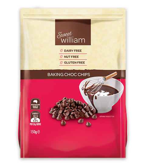 Sweet William Baking Choc Chips - 150g