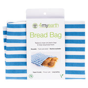 4myearth Reuseable Bread Bag 30x40cm Denim Stripe