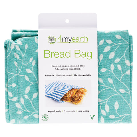 Copy of 4myearth Reuseable Bread Bag 30x40cm Leaf
