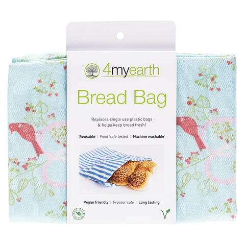 4myearth Reuseable Bread Bag 30x40cm Love Birds