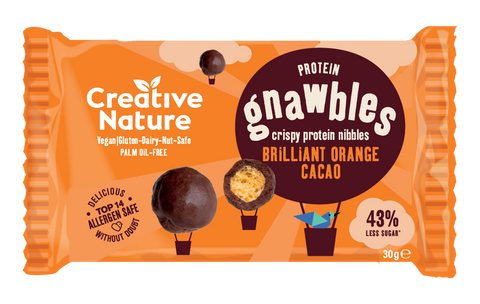 Creative Nature Orange Cacao Crispy Gnawbles - 30g
