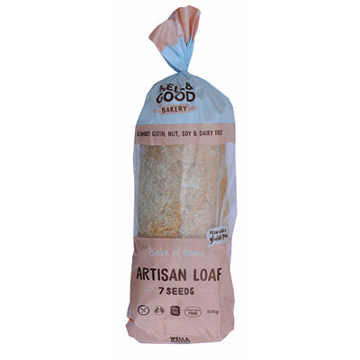Well & Good Artisan 7 Seeds White Loaf - 500g (not currently available in NZ) **Temporarily Unavailable**