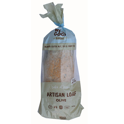 Well & Good Artisan Loaf with Olives - 500g (not currently available in NZ) **Temporarily Unavailable**
